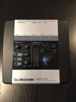 Tarjeta de sonido TC Electronic Desktop Konnekt 6