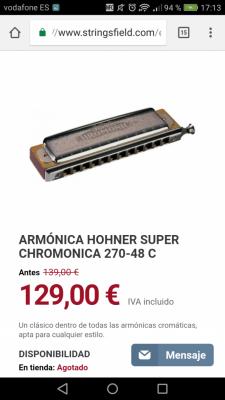 Tambourine !!y Armónica Hohner supercromatica 270 48 C