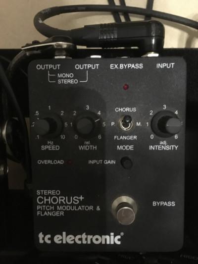 Pedal chorus tc electronic scf