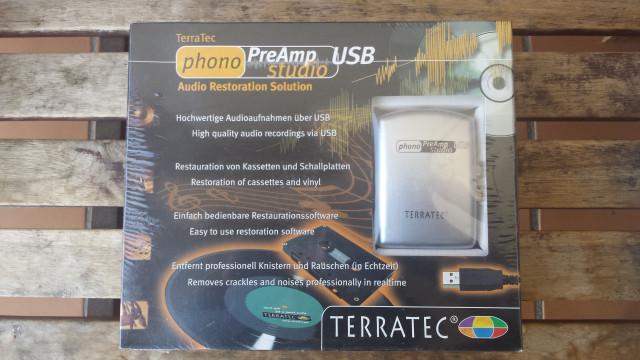 Grabador vinilos Terratec Phono PreAmp Studio USB