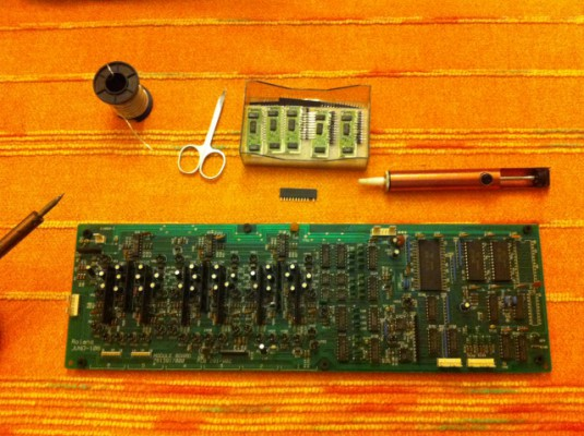 Pastilla 80017a (VCF-VCA) para Roland Juno 106, 106S, HS-60, GR-700, MKS-7 y MKS-30