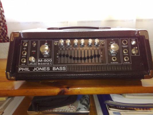 Amplificador Cabezal de Bajo Phil Jones M-500
