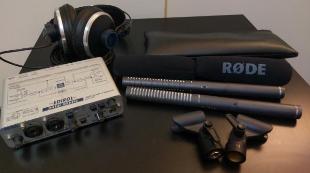 RodeS NTG-2 + cascos + interfaz