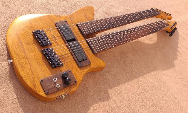 Guitarra Doble Mástil - Fibonacci Double (Siete cuerdas + 6 cuerdas)