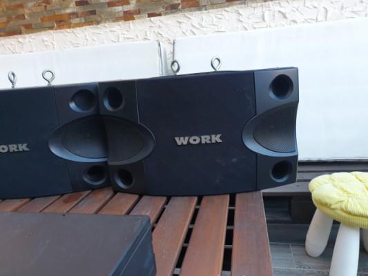 """Altavoces monitores mark y work club 8 150w 8"""" precio por pareja  perfecto estado."""