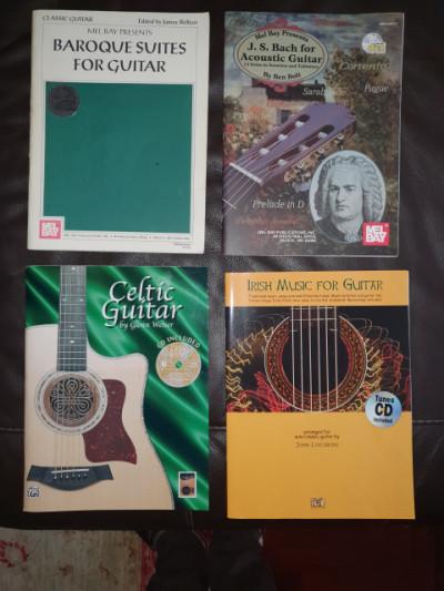 4 Libros Celtic y Clásica Tablatura, Partitura +CD como nuevos