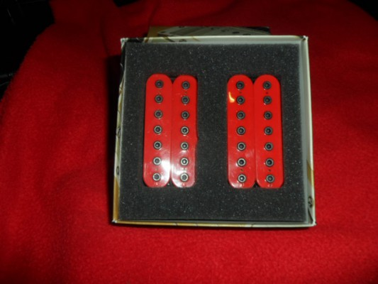 Bare knuckle 7 String Aftermath - Calibrated Covered Set  - RED