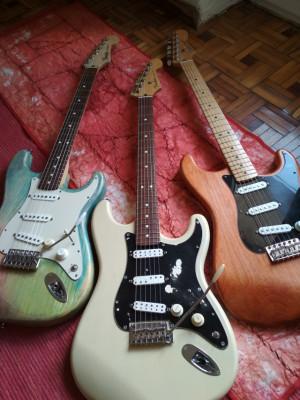 (O cambio) Stratocasters Partscaster con mástiles Fender