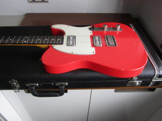 Telecaster Bakelite Guitars MK Fiesta Red G&G Case