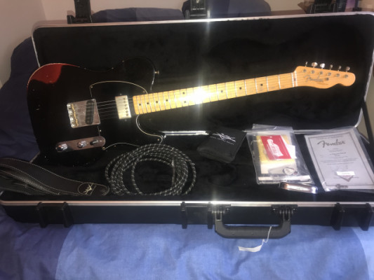 Fender telecaster custom shop 52 black over red