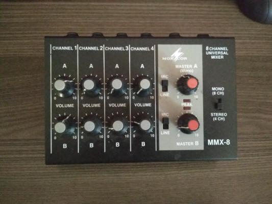 Mezclador Monacor mmx-8, 4-8 canales.