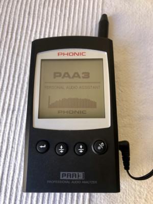 PHONIC PAA3 ANALIZADOR DE AUDIO PORTÁTIL