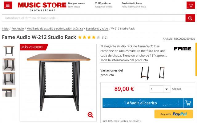 Studio Rack Fame W 212 (sin usar)