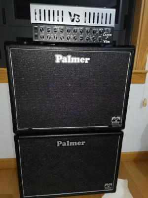 Cabezal Carvin V3M 50w a válvulas + dos cajas Palmer 112