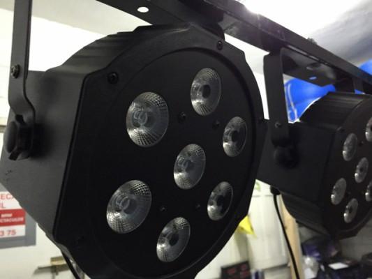 Vendo focos par led de alta potencia 7 x 9 watios dmx