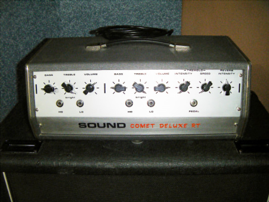 Cabezal Sound Comet Deluxe (rvb+trem) clon del VOX AC30. Italia, años 60.
