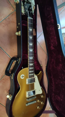 Gibson les paul historic 57 reissue goldtop darkback