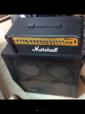 Cabezal Marshall MG100 HDFX + 200watt