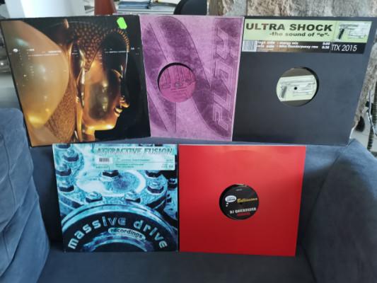 Lote 5 vinilos Colección Techno Oldschool como o nuevos
