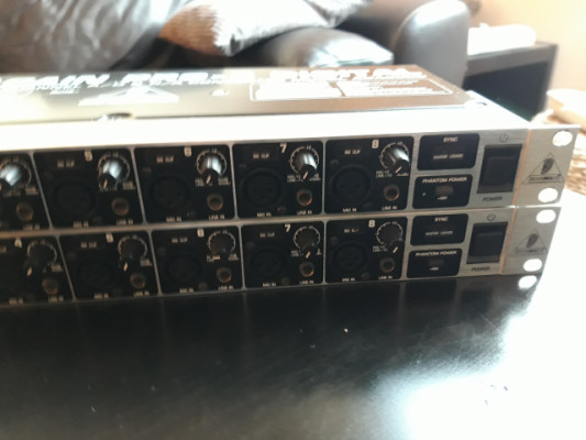 2 unidades behringer ada8000 (16 previos ad/da)