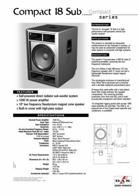 Equipo Sonido de Directo DAS Compact 8000 W RMS