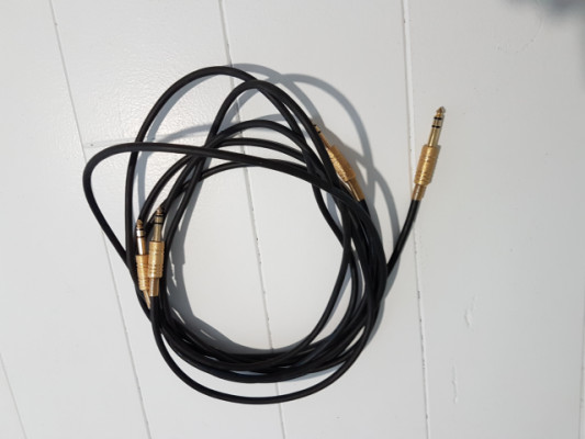 2 cables Jack Stereo 2,60 m.