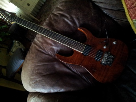 Ibanez RGT 3120 Prestige - tapa arce, cuerpo caoba, neck thru, SuperDistortion/Evolution