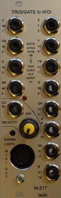 Vendo Ladik M-217 Trig-gate to MIDI