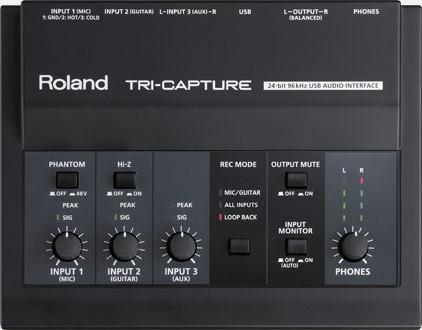 Interface ROLAND TRI-CAPTURE USB