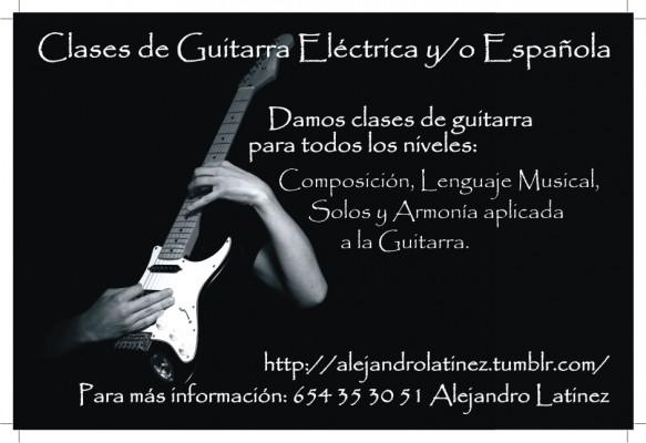 Se dictan clases de Guitarra en Barcelona (tambien a domicilio)