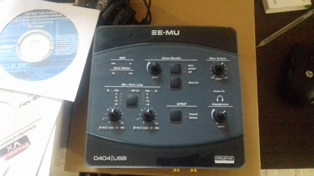 tarjeta sonido E-mu 0404 Usb 2.0