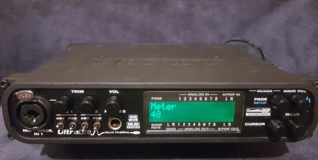 Tarjeta de sonido Motu UltraLite