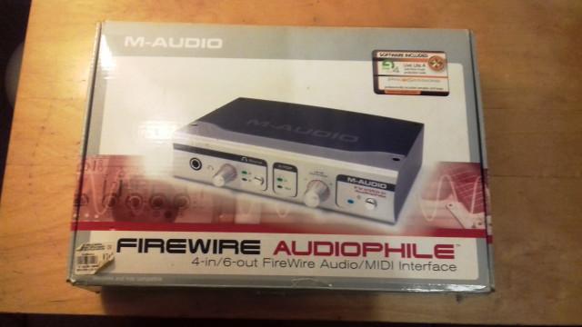Interface audio M-AUDIO AUDIOPHILE FIREWIRE