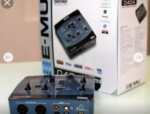 Tarjeta de sonido E-MU 0404 usb