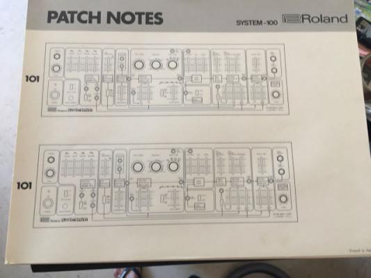 Patch cords y patchbook originales Roland