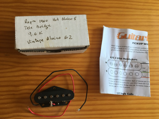 Pastilla Telecaster [con envío]GFS Repro Hot 62 alnico 5