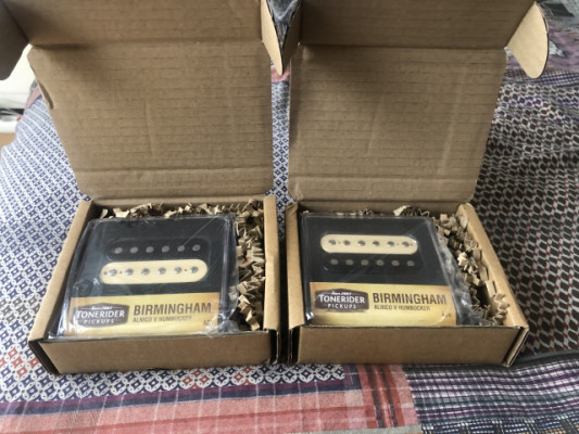 Set Pastillas Humbucker Tonerider Birmingham Alnico V  A ESTRENAR!!