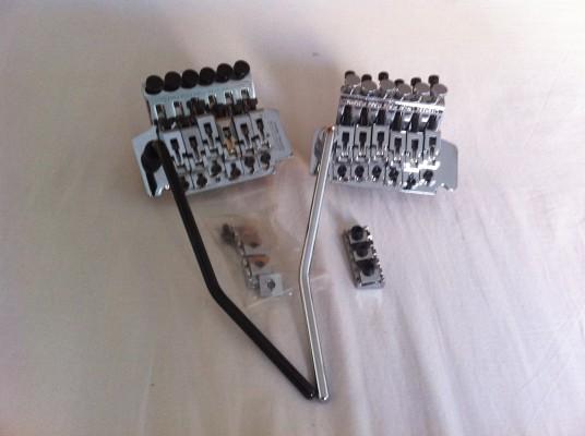 1 Floyd Rose Plateados Ibanez LO-TRS II y 1 Floyd Rose Patents.