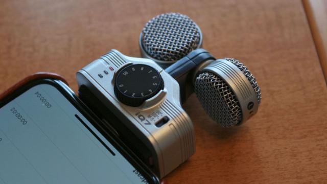 Micrófono estéreo profesional para iPHONE e iPAD ZOOM iQ7