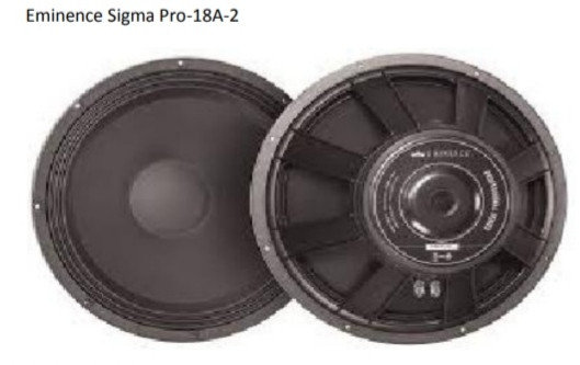 4 Eminence Sigma Pro 18A Nuevos