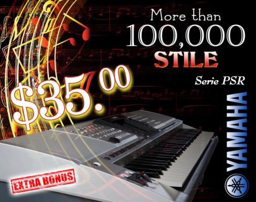 Yamaha Styles, más de 100.000 estilos para la serie Yamaha PSR