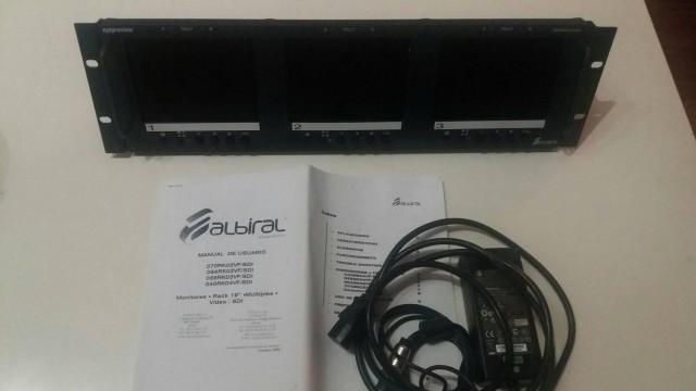 Rack de 3 monitores 5. 6 pulgadas