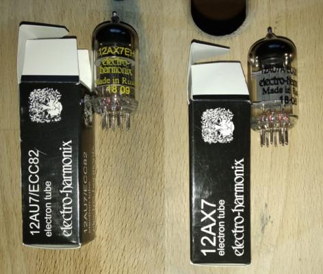 Válvulas Electro Harmonix 12AU7 y 12AX7.(Envío incluido).