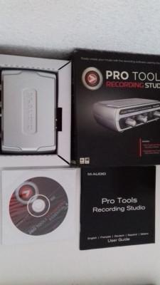Tarjeta sonido(interface) M-Audio+programa de grabación Pro Tools Essential