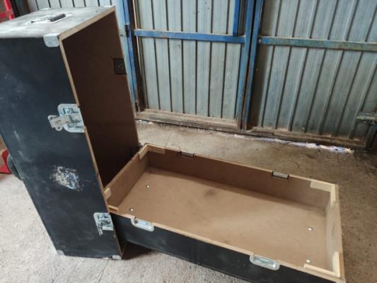 Con ruedas Flight case, baúl, cajón, madera,