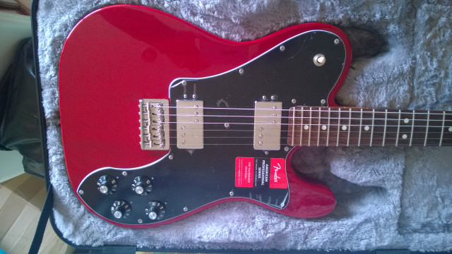 Fender American Prof Caoba Telecaster Deluxe Shawbucker - Crimson Red