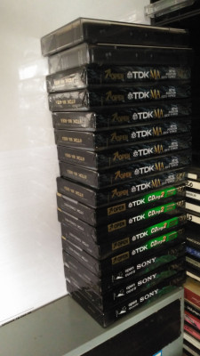 Cassettes varias de cromo y metal sin usar