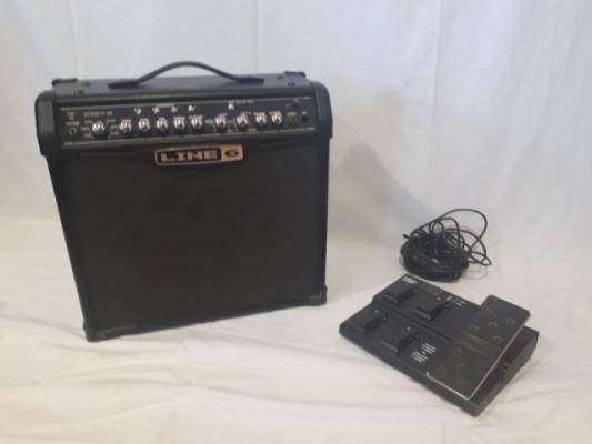Amplificador Line 6 Spider IV 30W + Pedalera FBV MKII