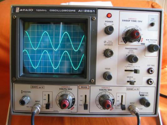 Osciloscopio de 10 Mhz / 2 canales