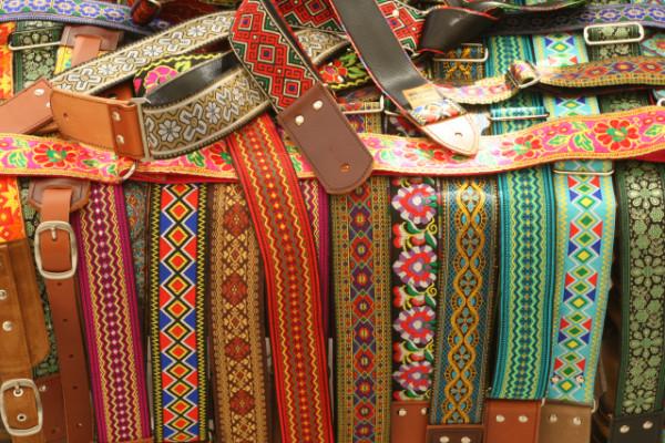 Correa Pardo Guitar Straps correas artesanales cuero hippies